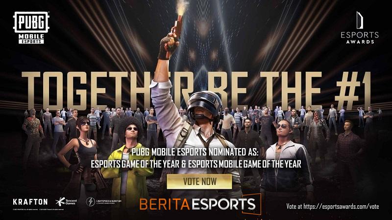 PUBG Mobile Masuk Sebagai Nominator Dalam Event The Esports Awards 2021