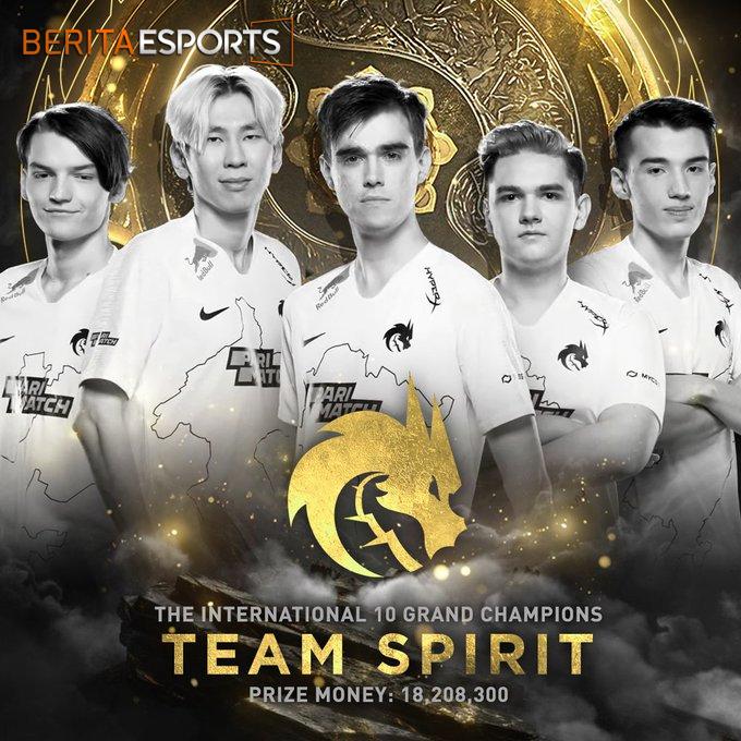 Selamat Pada Tim Spirit! Kalian The Best of TI10!
